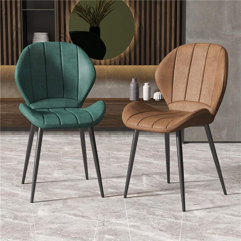PRIDE S Chaise de salle, Chaise de bureau simple, créative Dossier, Chaise Loisirs, Maison adulte Chaise de salle Chaise de salon (Color : Yellow- Golden leg) Green- Black Leg