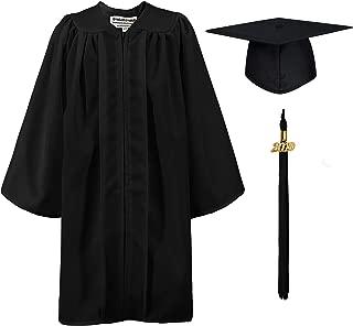 Matte Kindergarten Graduation Gown Cap Set with 2019 Tassel