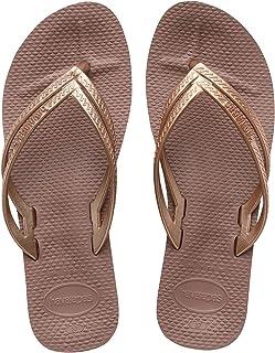 Havaianas Women's Slip-On Flip-Flop, Cappuccino, 7