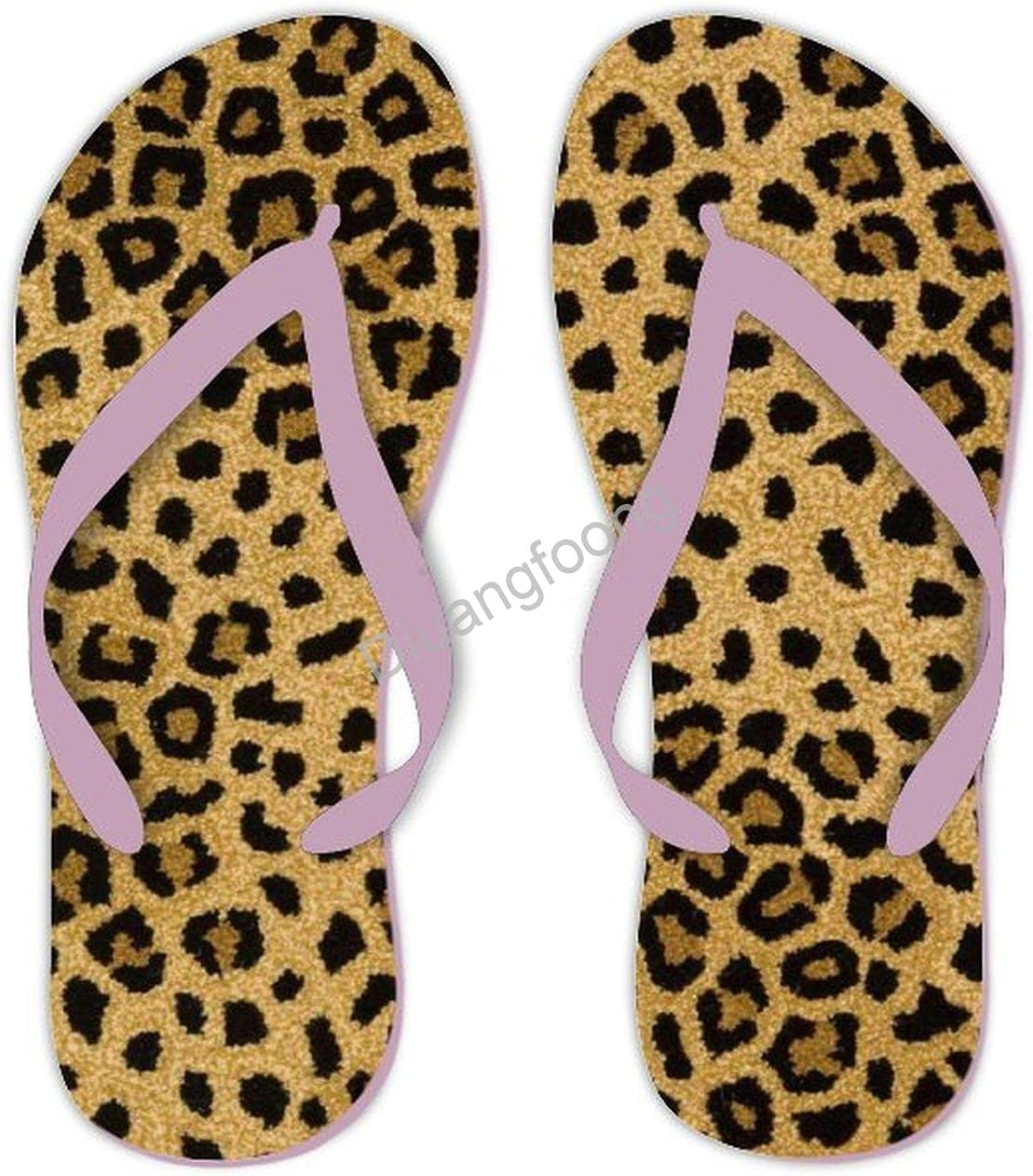 Leopard Flip Flops Comfort Summer Thong Sandals Pretty Sandal For Outdoor Travel Shipping Pink Style1