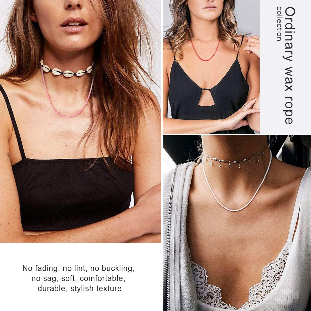 ChainsHouse Collar de Cuero con Cierre Eficaz para Hombres Mujeres Color Negro//Marr/ón//Rojo//Blanco//Rosa Collar Personalizable