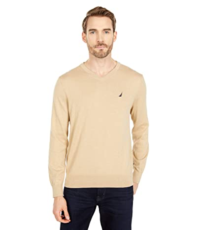 Nautica Navtech V-Neck Sweater (Sandy Bar Heather) Men