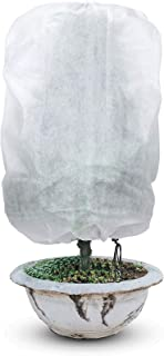 Boao 2 Pieces Plant Covers Drawstring Plant Freeze Protection Covers Rectangle Plant Cover for Winter Plant Frost Cold Pro...