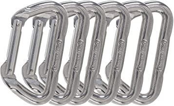 Omega Pacific Carabiner D, Non-Locking, USA Made, ISO Cold Forged Aircraft Aluminum Alloy for Climbing,Safety, Rescue, Industrial, and Arborist Uses
