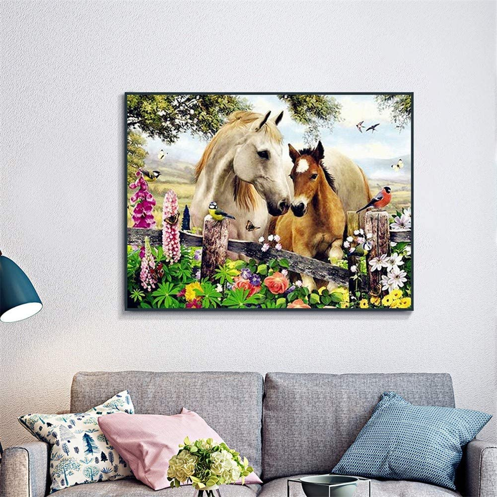 5D DIY Diamond Painting by Kits Number shipfree Charlotte Mall Horse Pain Garden