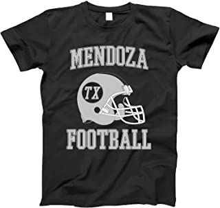 4INK Vintage Football City Mendoza Shirt for State Texas with TX on Retro Helmet Style