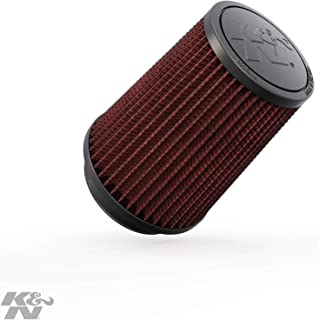 K&N Universal Clamp-On Engine Air Filter: Washable and Reusable: Round Tapered; 3 in (76 mm) Flange ID; 5.75 in (146 mm) Height; 4.5 in (114 mm) Base; 3.5 in (89 mm) Top , RU-5111