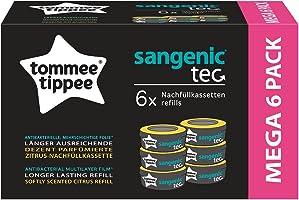 Tommee Tippee Nachfüllkassetten Sangenic tec (6er-Pack) - mehrschichtige Folie für Windelaufbewahrung - passend für...