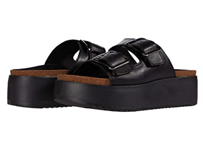 Clarks Botanic Slide (Black Leather) Women