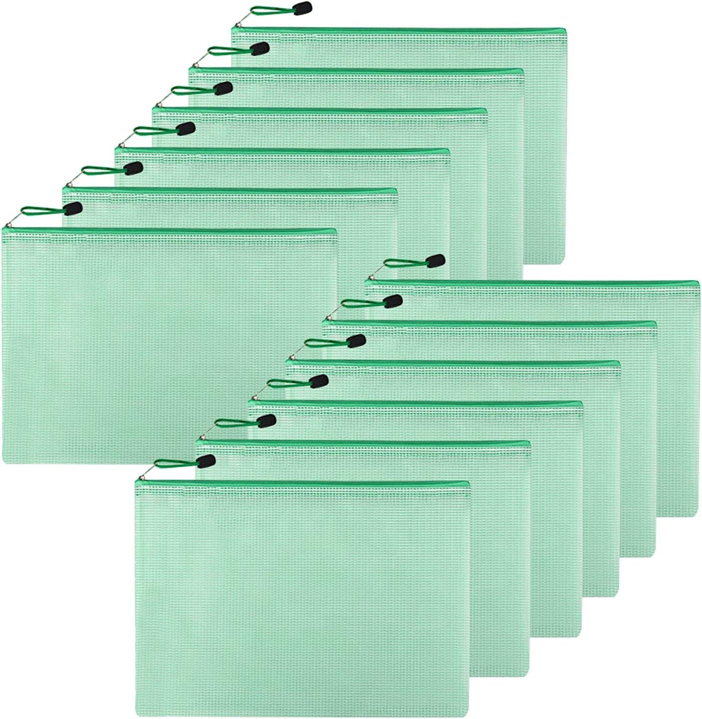 Dulousia 12PCS Mesh Sale Zipper Pouch Document PVC A4 Folde Japan's largest assortment File Bag