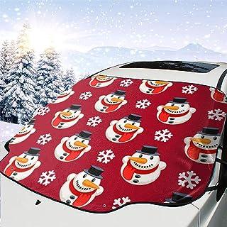 Weihnachtsnahtloses Muster mit Schneemann Auto Front Windshield Snow Cover Snow und EIS Schutz Im Winter für Automobil Fahrzeug Minivan 58×46.5 Zoll