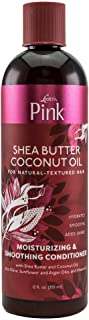 Luster's Lusters Pink Shea Butter Coconut Oil Moisturizing & Silkening Conditioner for Hair, 12 Oz