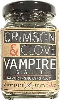 Vampire Salt (Black Hawaiian Garlic Salt with Aleppo Pepper) by Crimson and Clove (5.2 oz.)