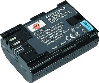 DSTE Vervangende batterij Li-ion batterij compatibel voor Canon LP-E6N LPE6N LP E6N
