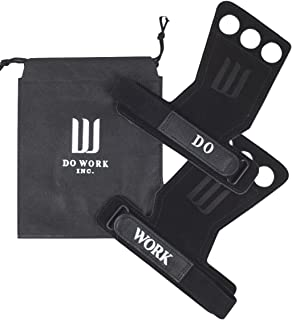 Leather Gymnastics & Crossfit Hand Grips   Professionally Designed for WODs, Pull ups, Weightlifting, Muscle Ups, and Kettlebells - by Do Work.