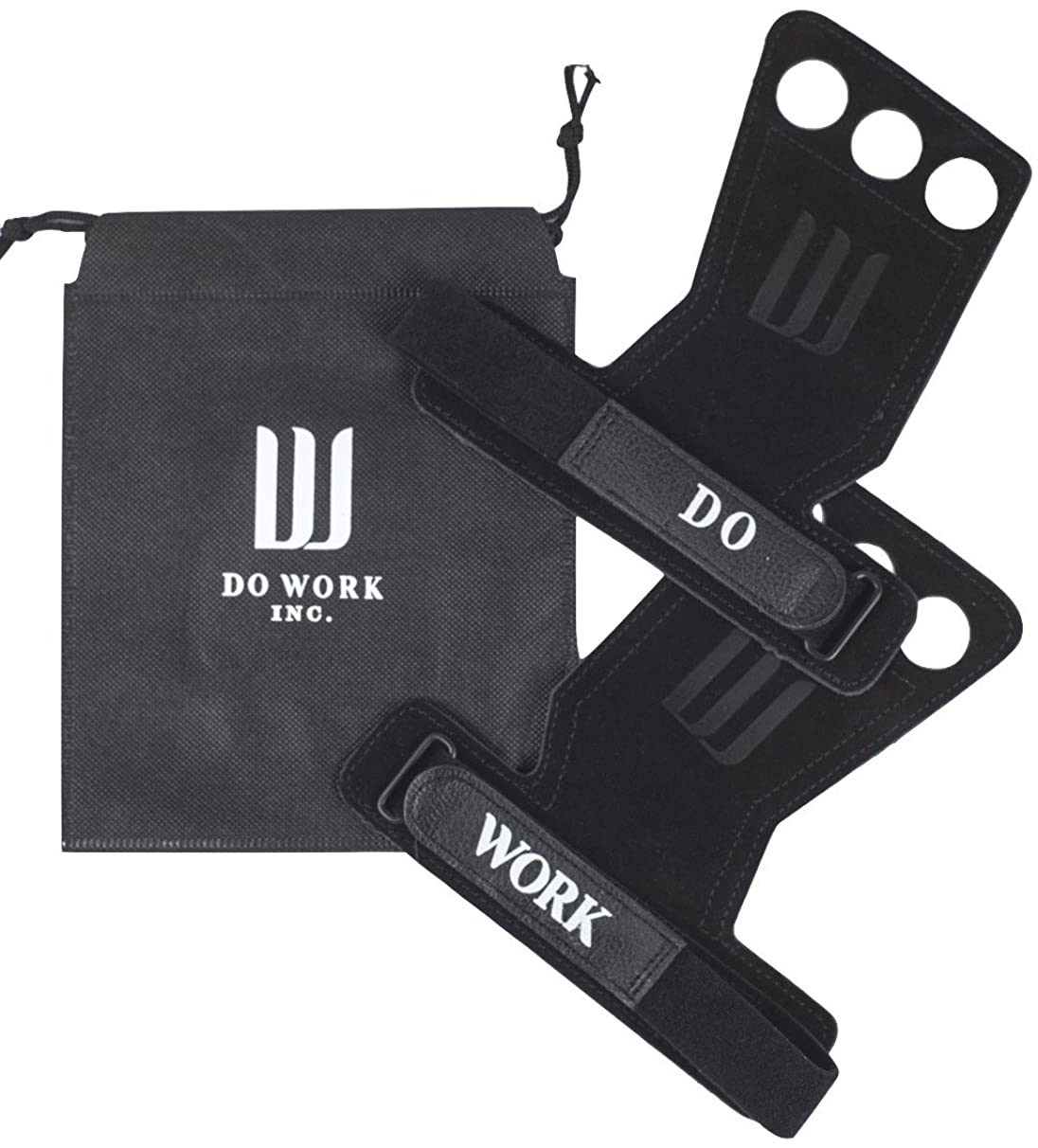 Leather Gymnastics & Crossfit Hand Grips | Professionally Designed for WODs, Pull ups, Weightlifting, Muscle Ups, and Kettlebells - by Do Work.