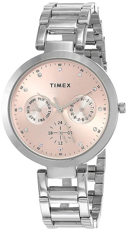 TIMEX E Class Analog Pink Dial Women's Watch TW000X206