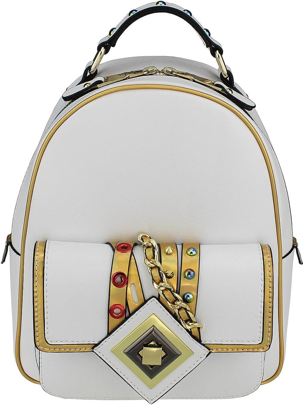 B BRENTANO Same day shipping Vegan OFFicial shop Fashion Mini Backpack Trim Metallic with