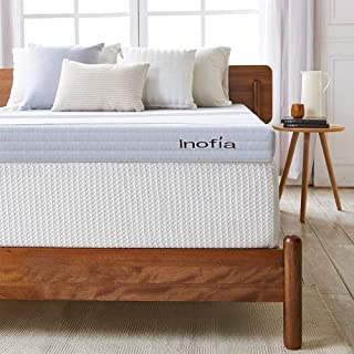 Inofia Mattress Topper 3 Inch Gel Infused Memory Foam Mattress Pad Ventilated Removable Cover with CertiPUR-US Foam (Twin)