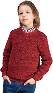 Kid Nation Boys' Sweater Cotton Long Sleeve Casual Pullover Mixed Engineered Colors Stripe Crew Neck