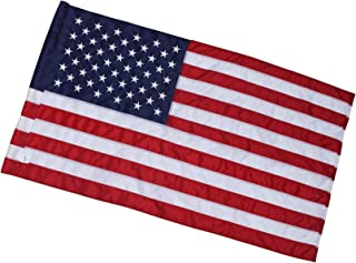 Fine Line Flag | 3x5 Ft American Flag - Pole Sleeve Header | 100% Made in USA | 3'x5' US Flag in Heavy Duty Outdoor Nylon - UV Fade Resistant - Premium Embroidered Stars, Sewn Stripes, and 2