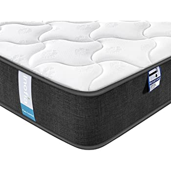 Inofia Mattress,Breathable Fabric Mattress with Pocket Springs,7-Zone Support System,8.7 Inch Depth (100 Night Test at NO Risk) (5FT(150x200x22cm))