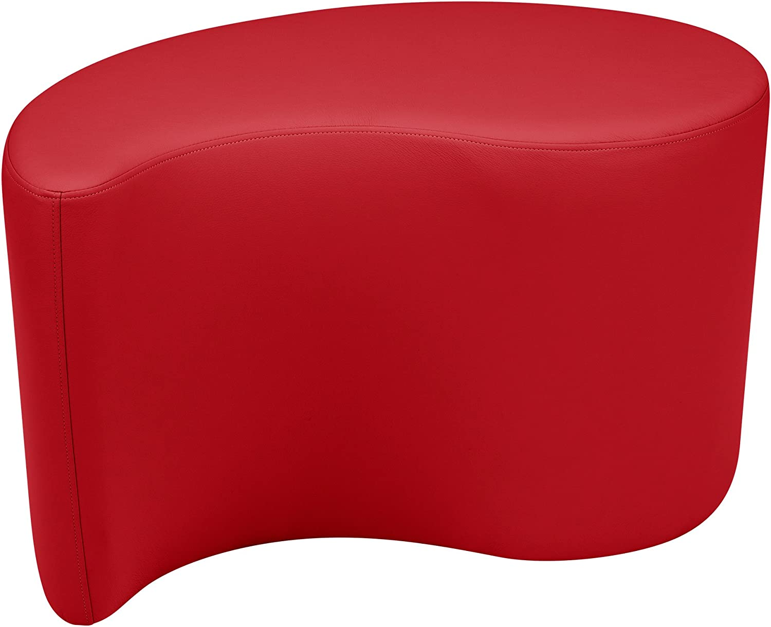 School Outfitters Shapes Series II Vinyl Soft Soft Soft Seating Stool, Teardrop, 18  H, rot, LNT-1002RD-A B06Y1R23JS | Neues Design  331182