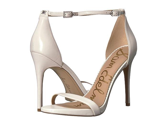 Sam Edelman  Ariella Strappy Sandal Heel (Bright White Nappa Luva Leather) Womens Shoes