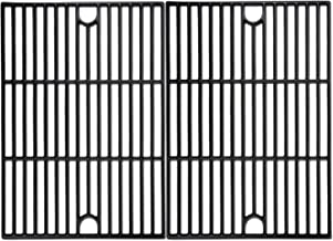 Uniflasy Cast Iron Cooking Grid Grate for Nexgrill 720-0830H, 720-0697, 720-0670A, Kenmore 720-0670a, Members Mark, Uniflame, Kmart Grills, 17 Inches Grills Grate, 2 Pack