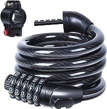 Sportneer Fietsslot, kabelslot, fietsslot voor mountainbike/racefiets/BMX/MTB (kabelslot)