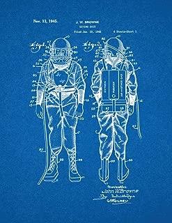 Diving Suit Patent Print Blueprint (24