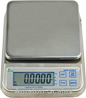 16.5 LB x 0.0005 LB / 7.5 KG x 0.2 Gram Washdown Kitchen Portion Control Counting Dust Proof Water Proof Engine Balancing Digital Scale 6.5 x 7 Inches
