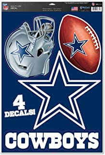 "WinCraft NFL Dallas Cowboys WCR41268014 Multi-Use Decal, 11"" x 17"""