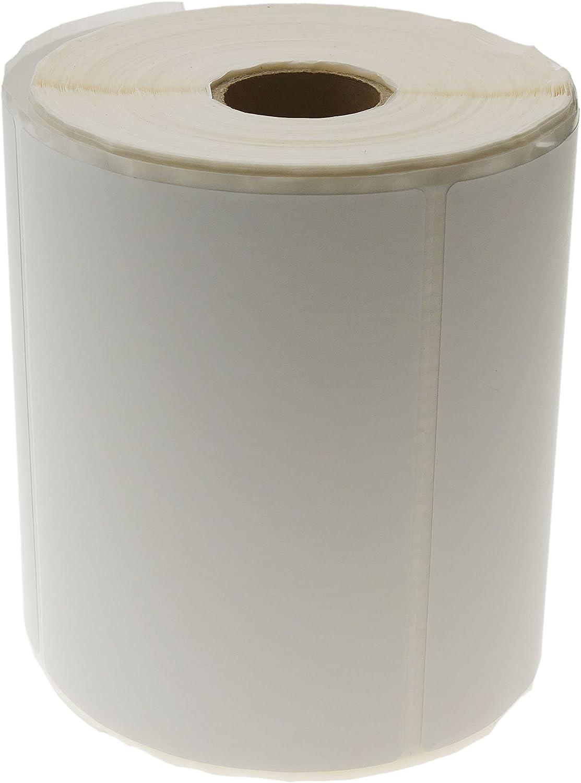 Cablematic PN20071610020174189 - SD46 Rollo de 500 Etiquetas Adhesivas para Impresora Transferencia térmica, 101.6 x 76.2 mm, Blanco
