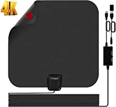 TV Antenna Indoor,HDTV Antenna TV Digital HD 4K,80 Miles Range Max,with Powerful Amplifier and 16.5 Foot Coax Cable,2020 Upgrade