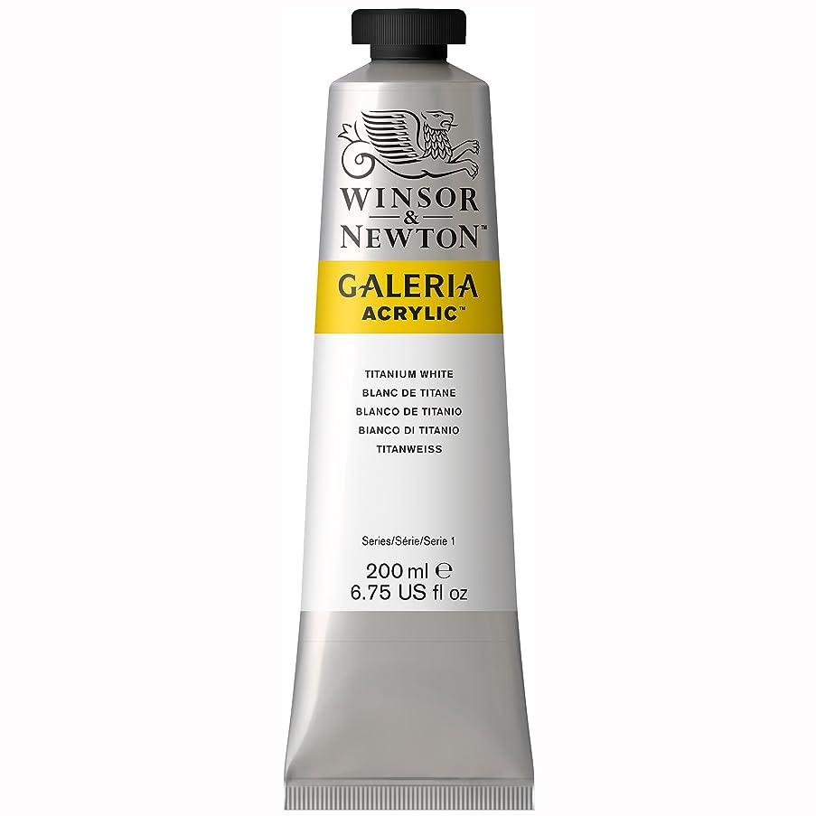 Winsor & Newton 2136644 Galeria Acrylic Color Tube, 200ml, Titanium White, 200-ml