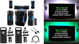 """Rockville Bluetooth Home Theater Karaoke Machine System w/8"""" Subwoofer + LED'S"""