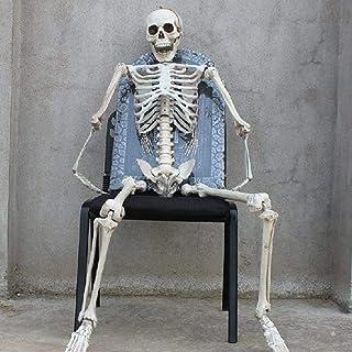 Masker Decoratie, 165cm Halloween Menselijk skelet Anatomisch Model Life Size Full Body Poseable Opknoping Gothic Horror H...