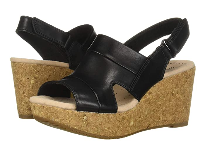 Clarks  Annadel Ivory (Black Leather) Womens  Shoes