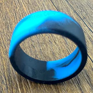 Tank Bands 21mm Silicone Tank Band Ring Bumper 21 COLORS AVAILABLE (4-PACK (Blue/Black))