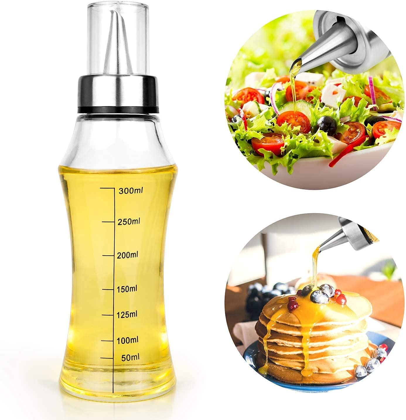 WATSABRO Oil Dispenser Bottle Glass Online Genuine limited product Olive Stai Bottles with