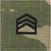 Army SSGT ROTC Cadet Rank OCP Scorpion with HOOK Fastener-STAFF SERGEANT