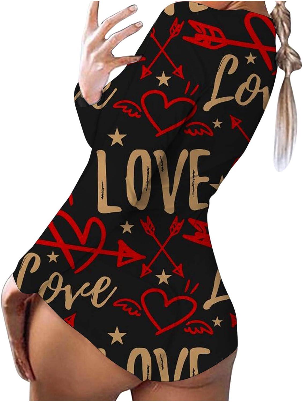 Bodysuit for Women Jumpsuit,Pajamas Homewear Short Rompers for Ladies Sexy Functional Buttoned Flap Bodysuit Sleepwears