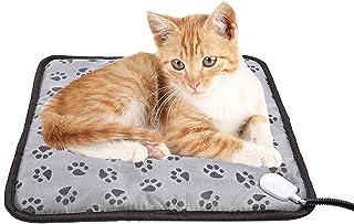 ペット用暖房車用温湿布防水犬・猫用温湿布ペット用ヒーター犬・猫・小動物用電気毛布対応する冷温・過熱保護用暖房器具2段階の温度調節、省エネ、耐噛み性45×45cm
