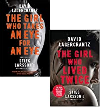 David Lagercrantz Collection 2 Books Set (The Girl Who Takes an Eye for an Eye, The Girl Who Lived Twice [Hardcover])