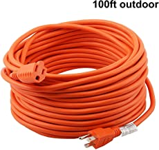Epicord 16/3 Extension Cord Outdoor Extension Cord (100 ft) Orange heavy duty extension cord [1 Year Warranty]
