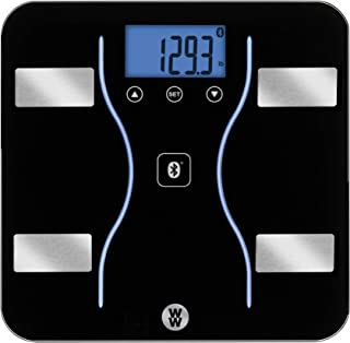 WW Scales by Conair Bluetooth Body Analysis Bathroom Scale - Measures Body Fat, Body Water, Bone Mass, Muscle Mass, and BM...