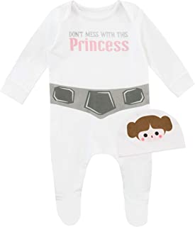 Baby Girls' Princess Leia Footies and Hat