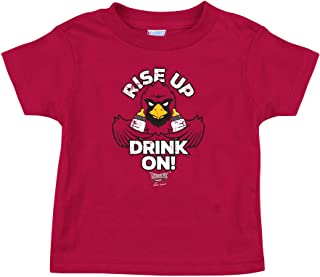 Rookie Wear by Smack Apparel Arizona Football Fans. Rise Up Drink On! Red Onesie (NB-18M) or Toddler Tee (2T-4T)