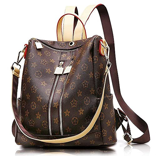 Olyphy Fashion Leather Backpack Purse for Women, Designer PU Shoulder Bag Handbags Travel Purse